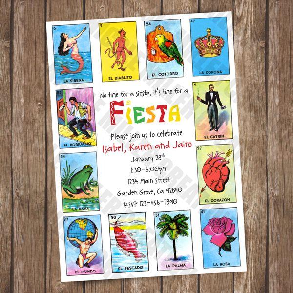 fiesta invite loteria customizable party ideas in 2018