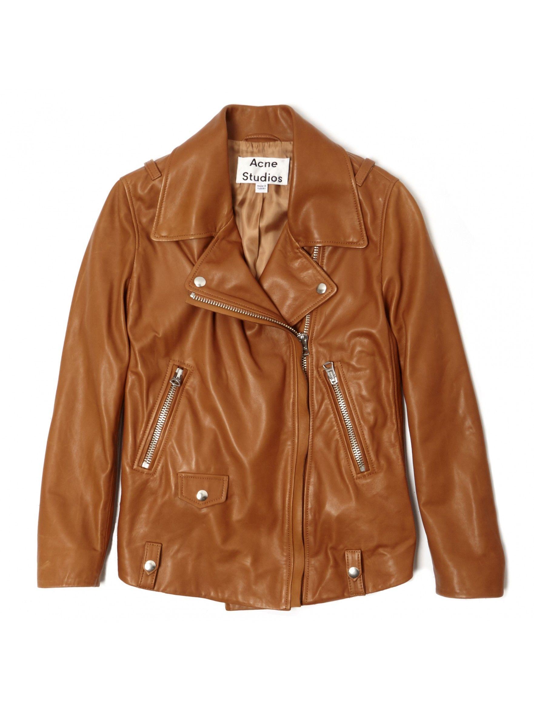 Acne studios Swift Moto Jacket in Brown Lyst Jackets