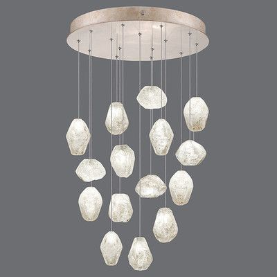 Fine Art Lamps Natural Inspirations 15 Light Cascade Pendant Finish: Gold Toned Silver