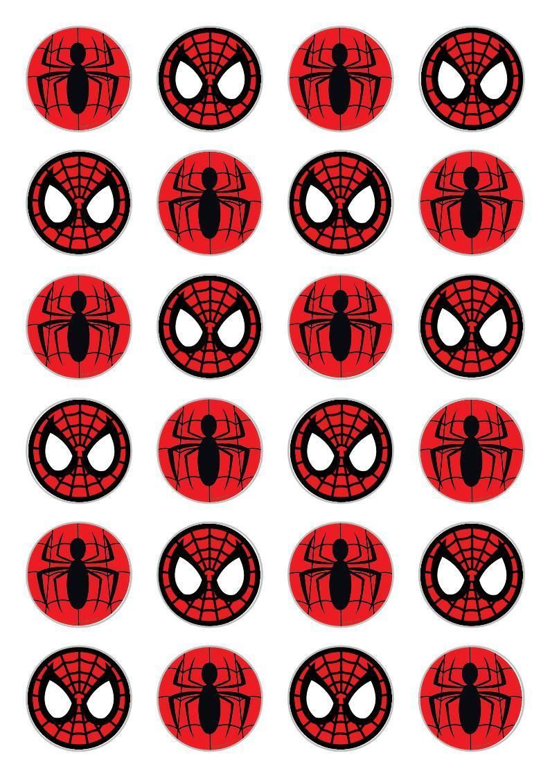 Slobbery image intended for free printable cupcake wrappers and toppers with spiderman