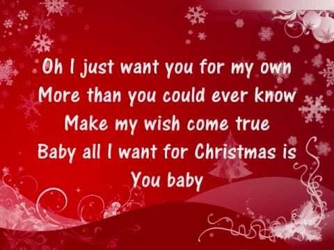 Mariah Carey All I Want For Christmas Is You Lyrics Youtube Yours Lyrics Christmas Song Christmas Concert