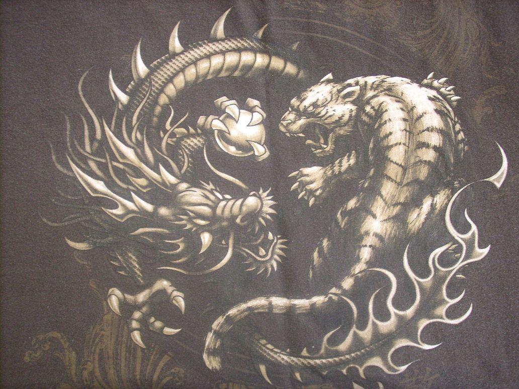 Tiger Vs Dragon Estilos De Artes Marciales Arte De Dragon Tatuaje De Tigre