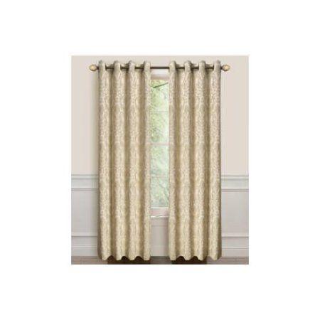 Dainty Home Lavista Heavy Jacquard Grommet Window Curtain Panels