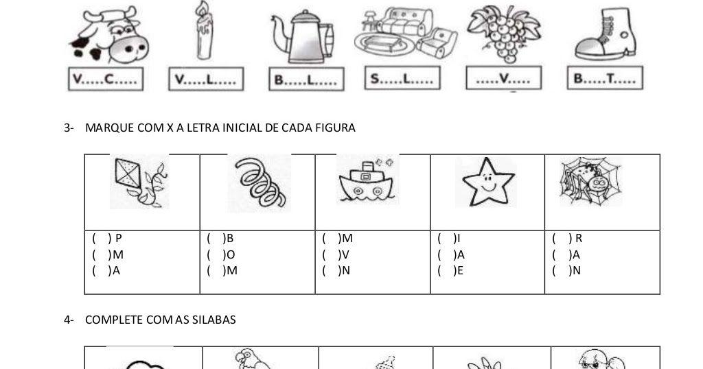 Pin Em Atividades Alfabetizacao E Letramento