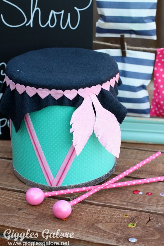 how to make a homemade drum for kids