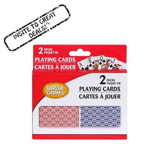 2 Decks Playing Cards Large Numbers Classic Card Games