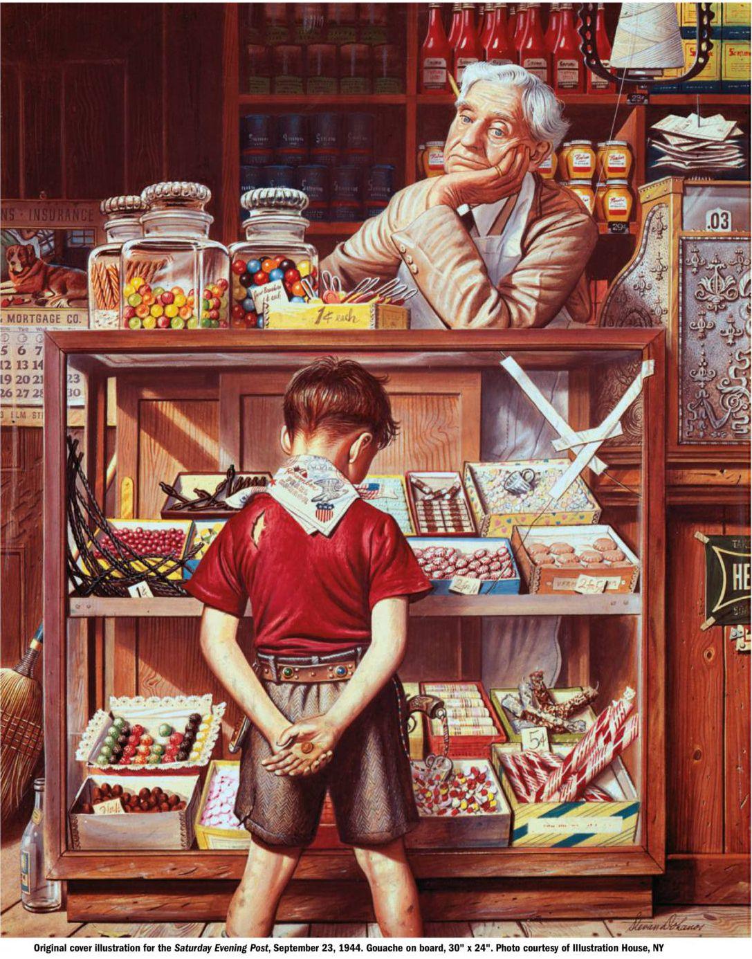 Le confiseur et l enfant American Artists bde5ec3b390
