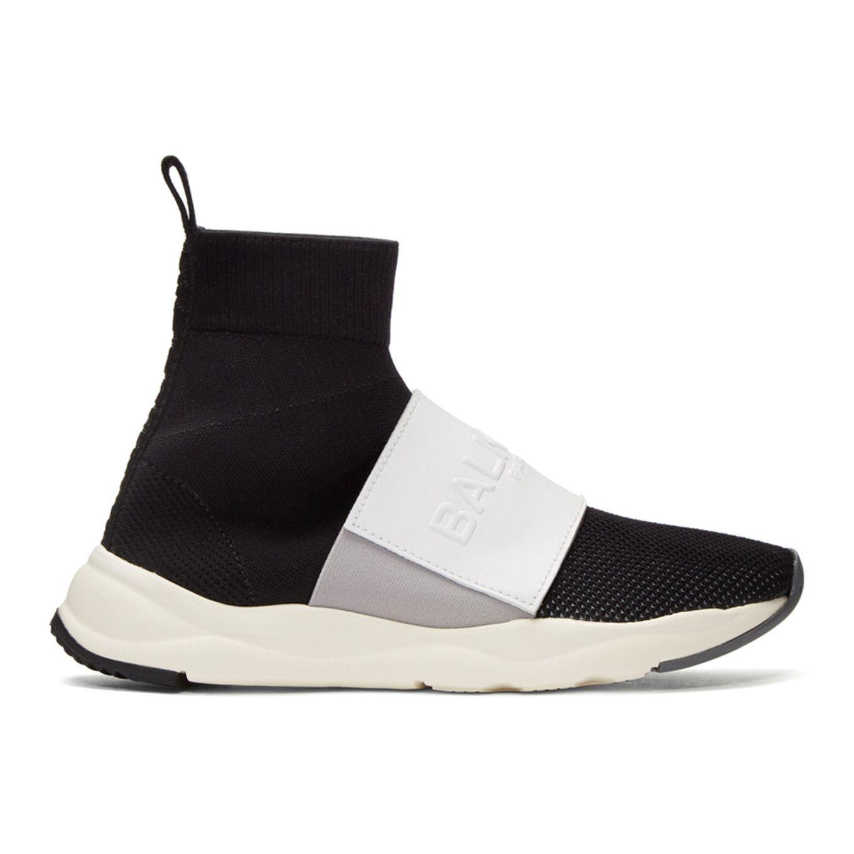 Black and White Cameron High-Top Sneakers Balmain SIcKFke