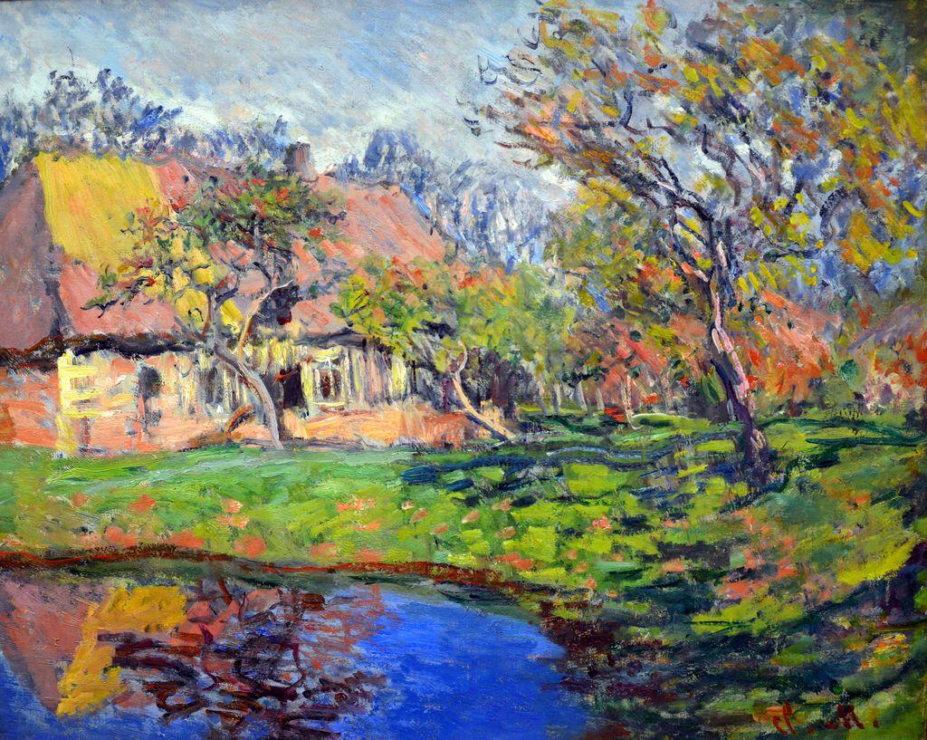 Claude Monet - Chaumiere normande, 1888 at Kunsthaus Zürich - Zurich  SwitzerlandMB1_1727 | Claude monet paintings, Monet art, Claude monet art