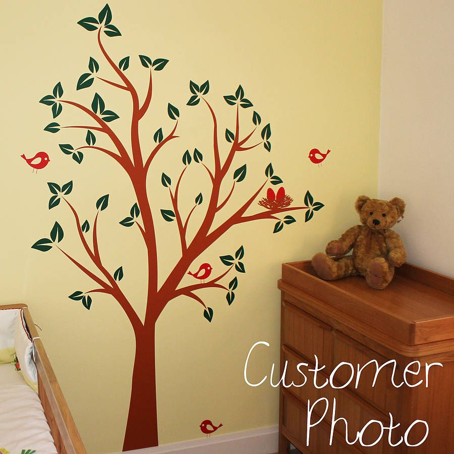 Birds Nests In Tree Wall Sticker | Wall sticker, Nest and Walls