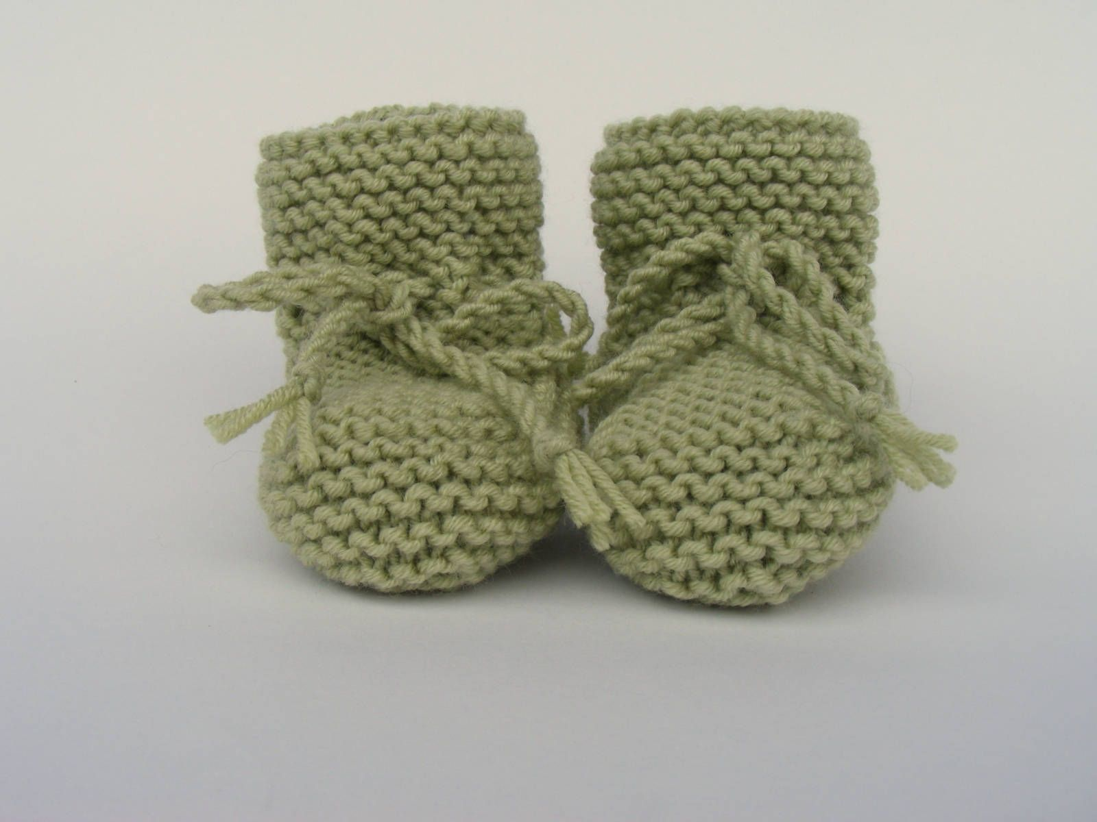 Hand Knitted Baby Booties Baby Shower Gift Avocado Green Baby