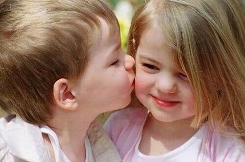 U Naughty Kids Kiss Baby Kiss Cute Baby Girl