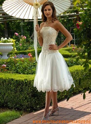 süße knielange schöne Brautkleider aus Spitze und Organza ...
