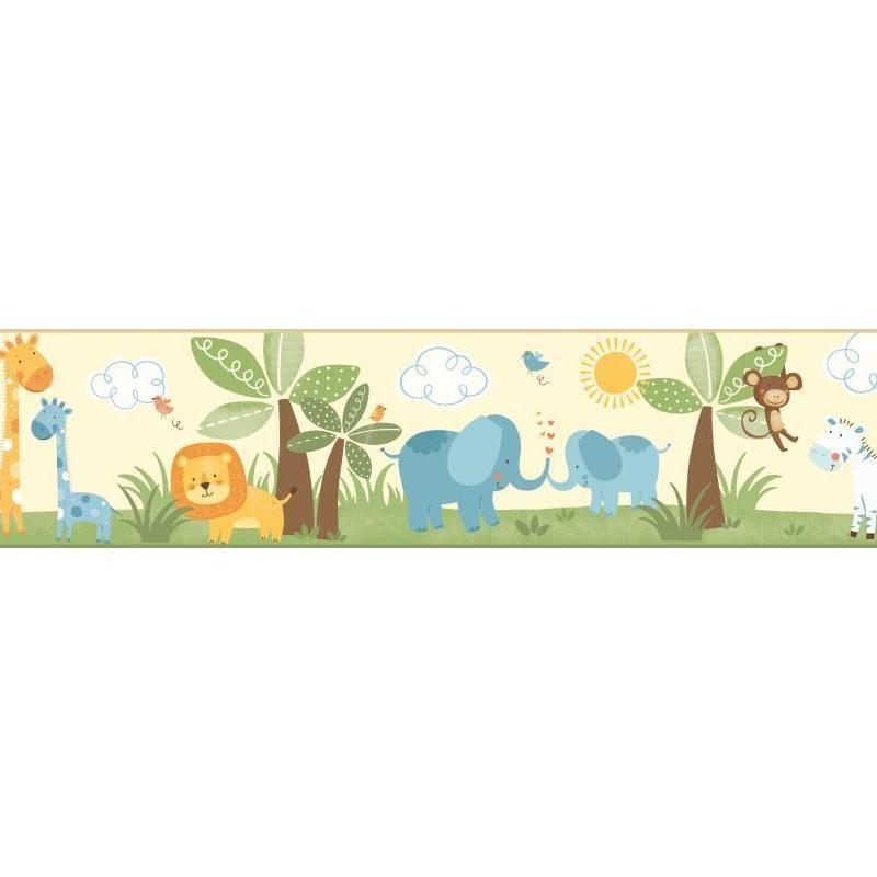 Room To Grow Baby Safari Wallpaper Border Bs5342bd Art Wall Kids Girls Wallpaper Border Wallpaper Border