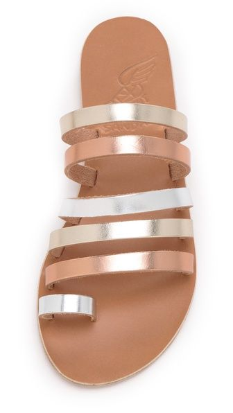 db0d0659aa3c1 metallic strappy sandals | Wear | Shoes | Shoes, Sandals, Summer shoes