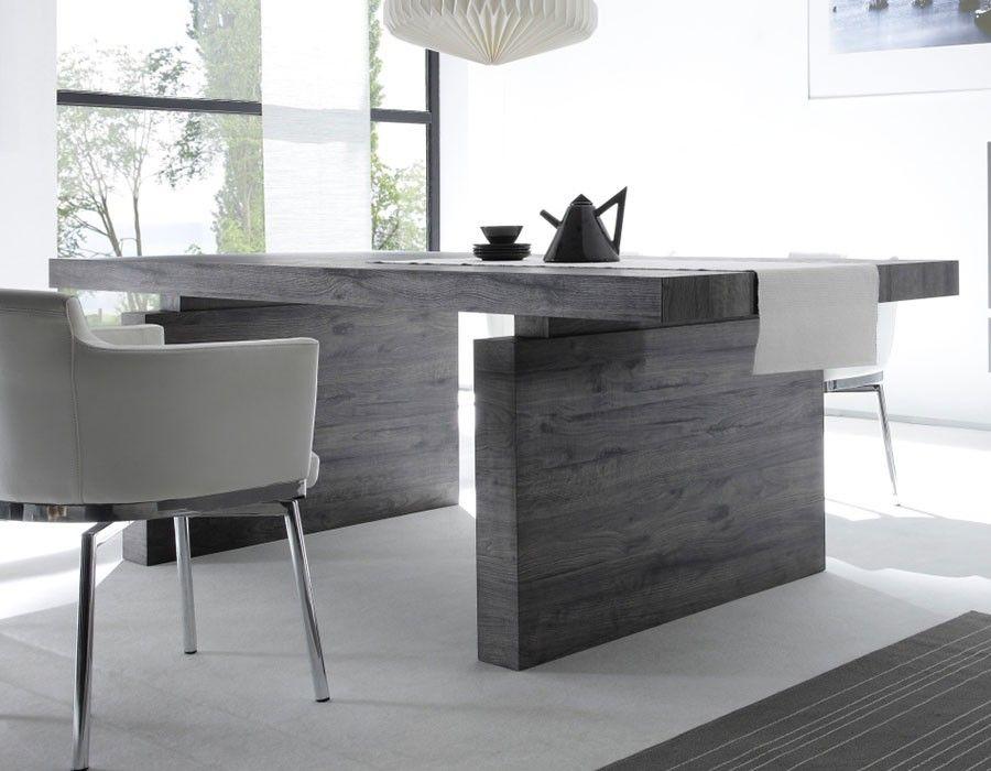 Table à manger en bois moderne rectangulaire BRICK 2   Cuisine ...