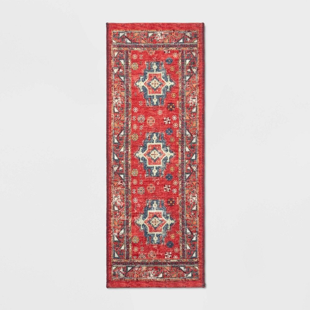 22 X60 Red Printed Persian Runner Threshold In 2020