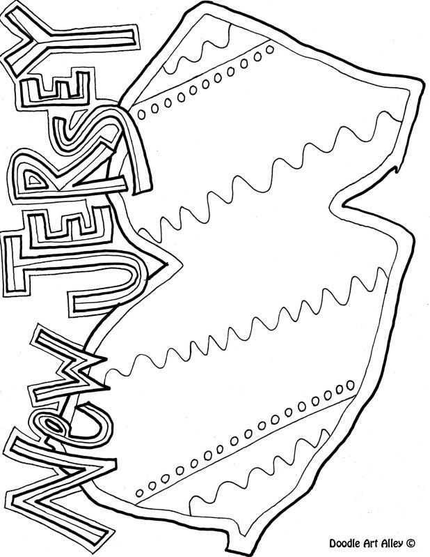 New Jersey Coloring Page By Doodle Art Alley Coloring Pages