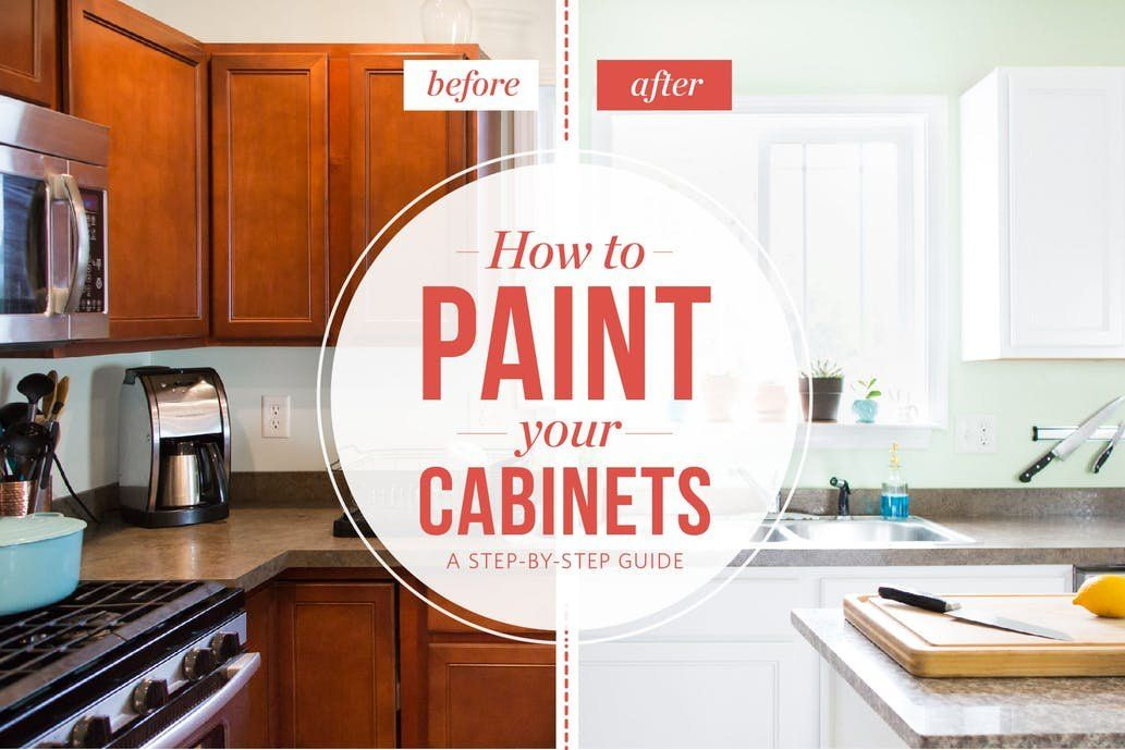 How To Paint Your Kitchen Cabinets So It Looks Like You Totally Replaced Them Painting Kitchen Cabinets Painting Kitchen Cabinets White Cheap Kitchen Cabinets