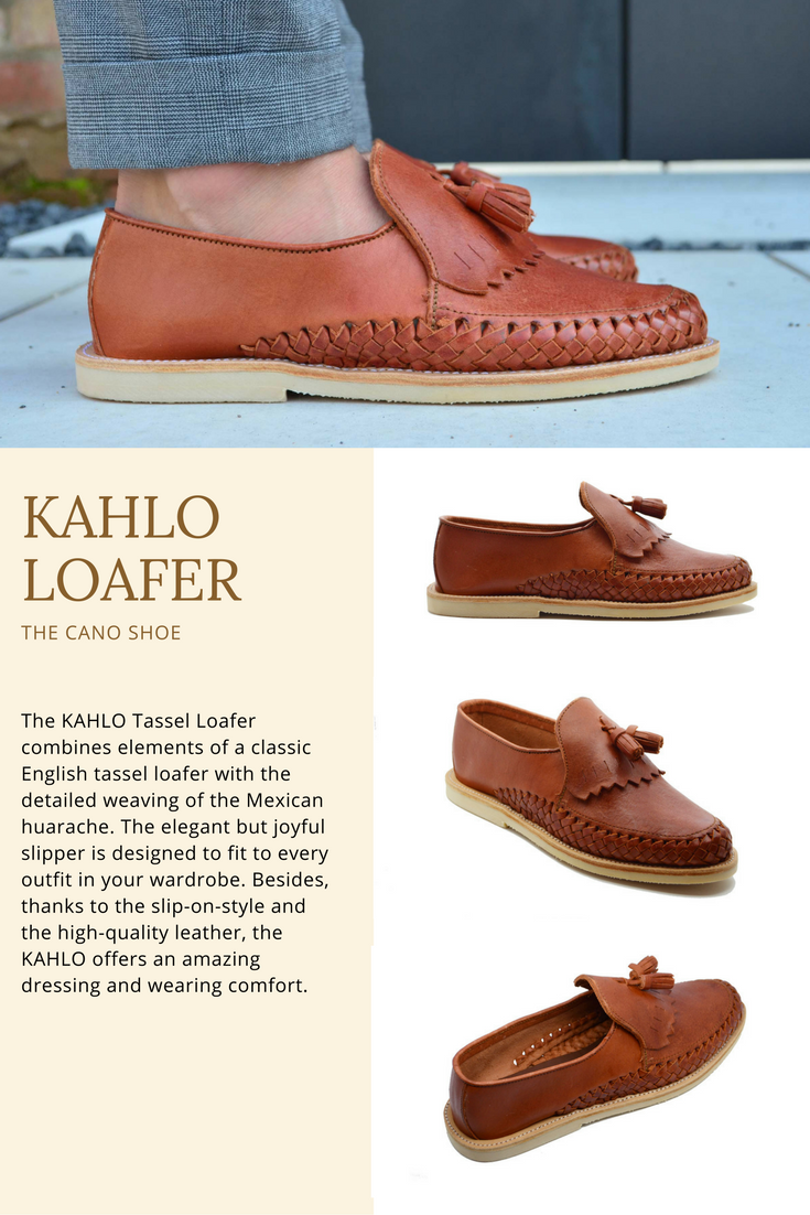 f77c9f9c805 The KAHLO Tassel Loafer combines elements of a classic English tassel loafer  with the detailed weaving of the Mexican huarache.
