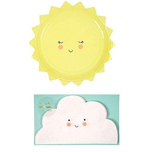 Baby Shower Meri Meri Sun Paper Plate Birthday Party Decorations