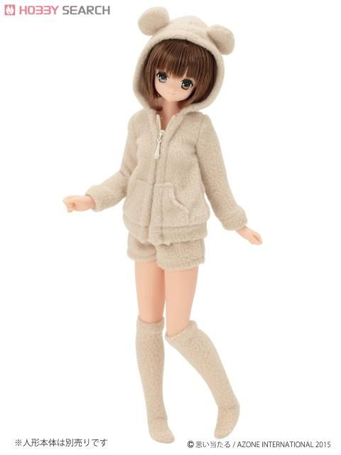 [Close] PNS Bear Bear Room Wear Set (Beige) (Fashion Doll)