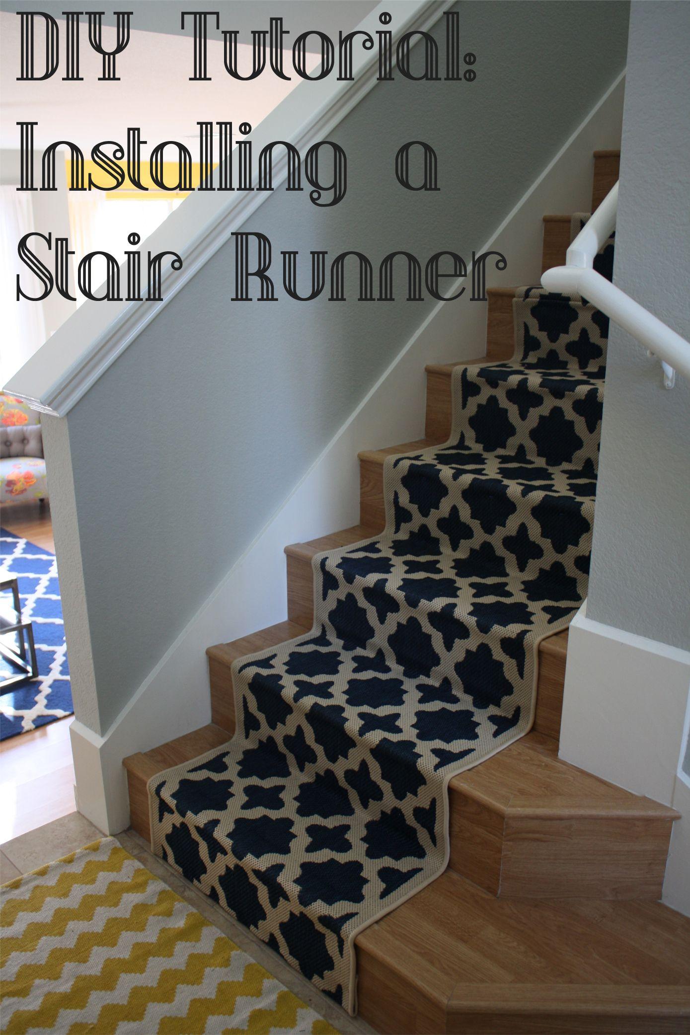 DIY tutorial installing a stair runner Diy stairs