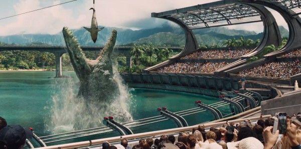 A screenshot from the new Jurassic Park trailer