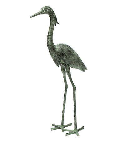 Crane Song Pair Brass Sculpture Statue Stylized Modern Waterfowl Heron Birds