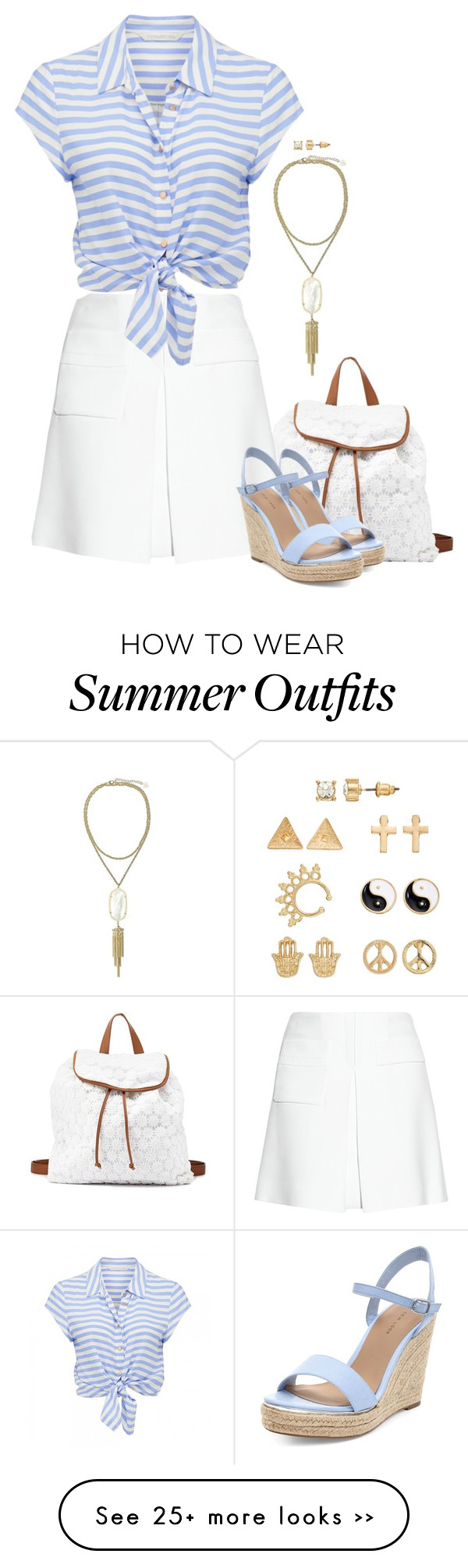 """""""Summer Vacation Dinner Outfit"""" by mk-style on Polyvore"""