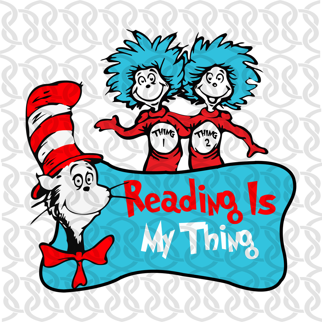 Reading Is My Thing Red Across America Svg Files For Silhouette Files For Cricut Svg Dxf Eps Png Instant Download Book Silhouette Dr Seuss Art Funny Svg