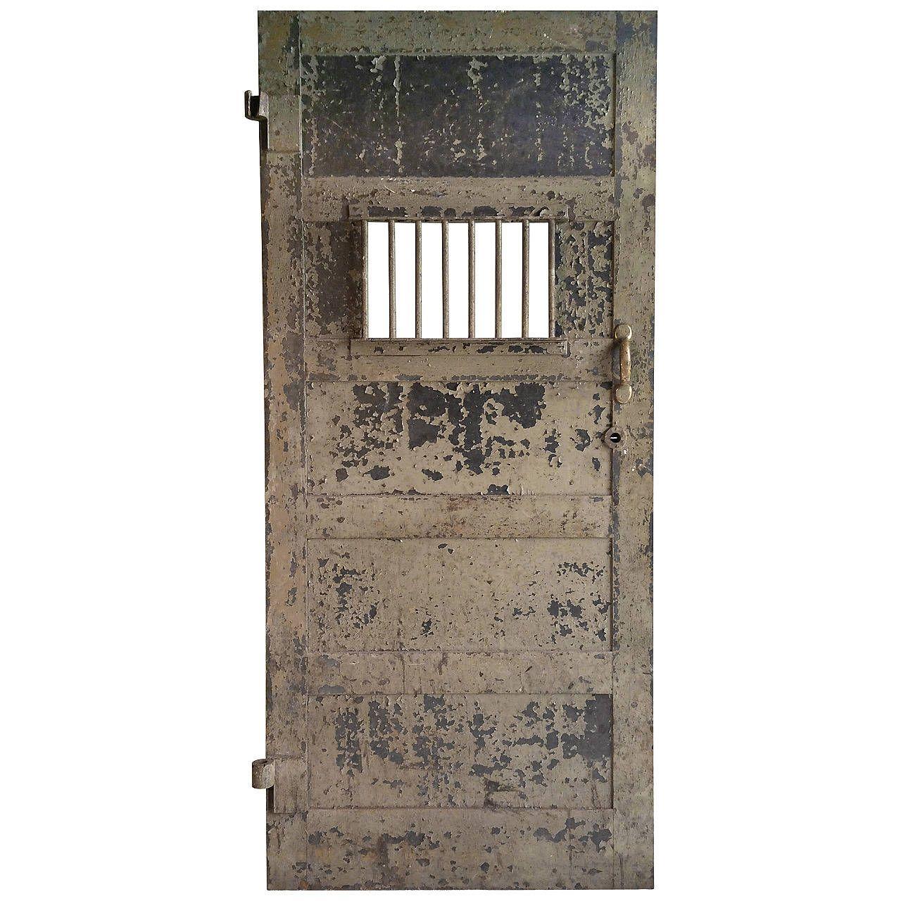 1920s Heavy Steel Prison Door
