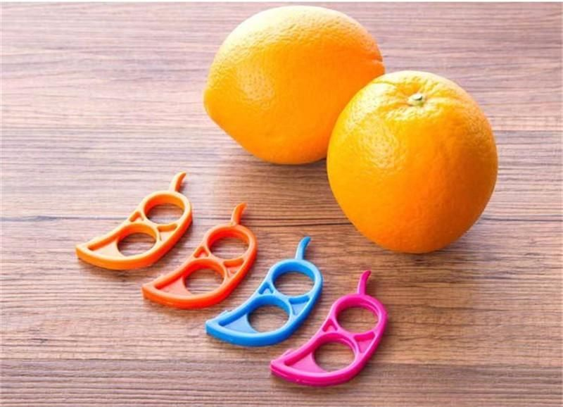 1Pcs Creative Orange Peelers Zesters Lemon Slicer Fruit Stripper Easy Opener Citrus Knife Kitchen Tools Gadgets - Purple