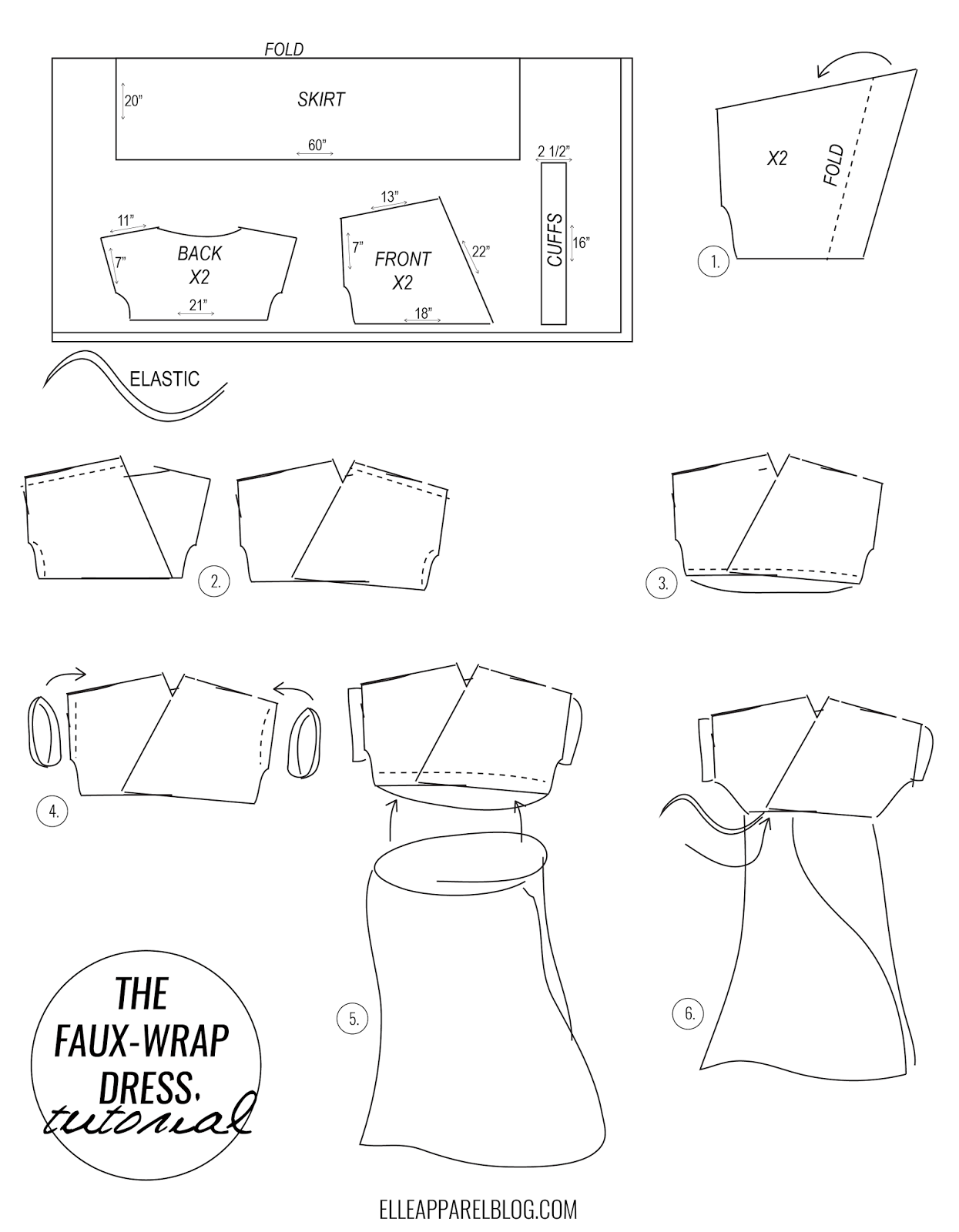 THE FAUX-WRAP DRESS TUTORIAL | sewing and embroidery | Pinterest ...