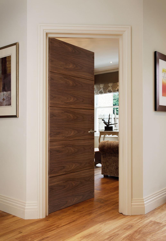 Orta g walnut bespoke solid walnut door made of a black walnut