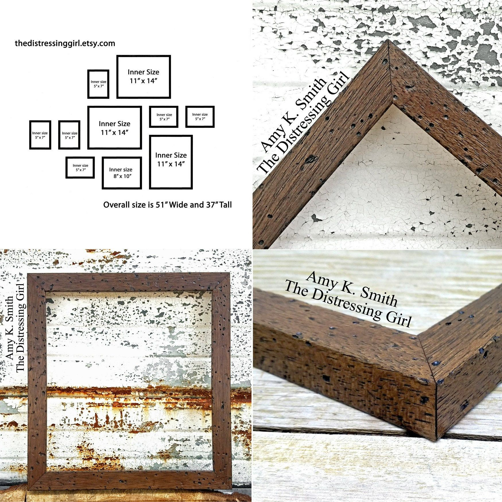 Set of 10 Wooden Picture Frames Ready to Hang Gallery Wall Collage ...