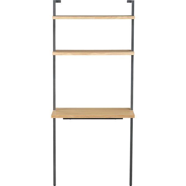 Best Helix White Oak 70 Wall Mounted Desk In Office Furniture 400 x 300
