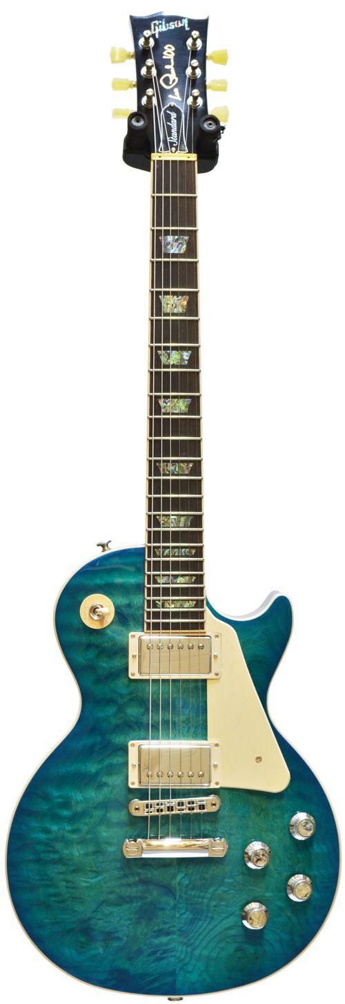Gibson Les Paul Standard Premium Quilt Ocean Water Perimeter (2015) #150024703 Main Product Image