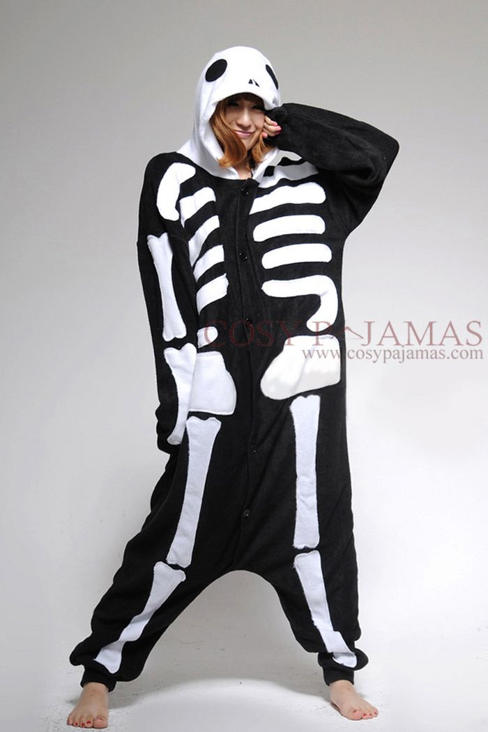 723ef8992a Fun Costume Skeleton Adult Onesie Kigurumi Pajamas