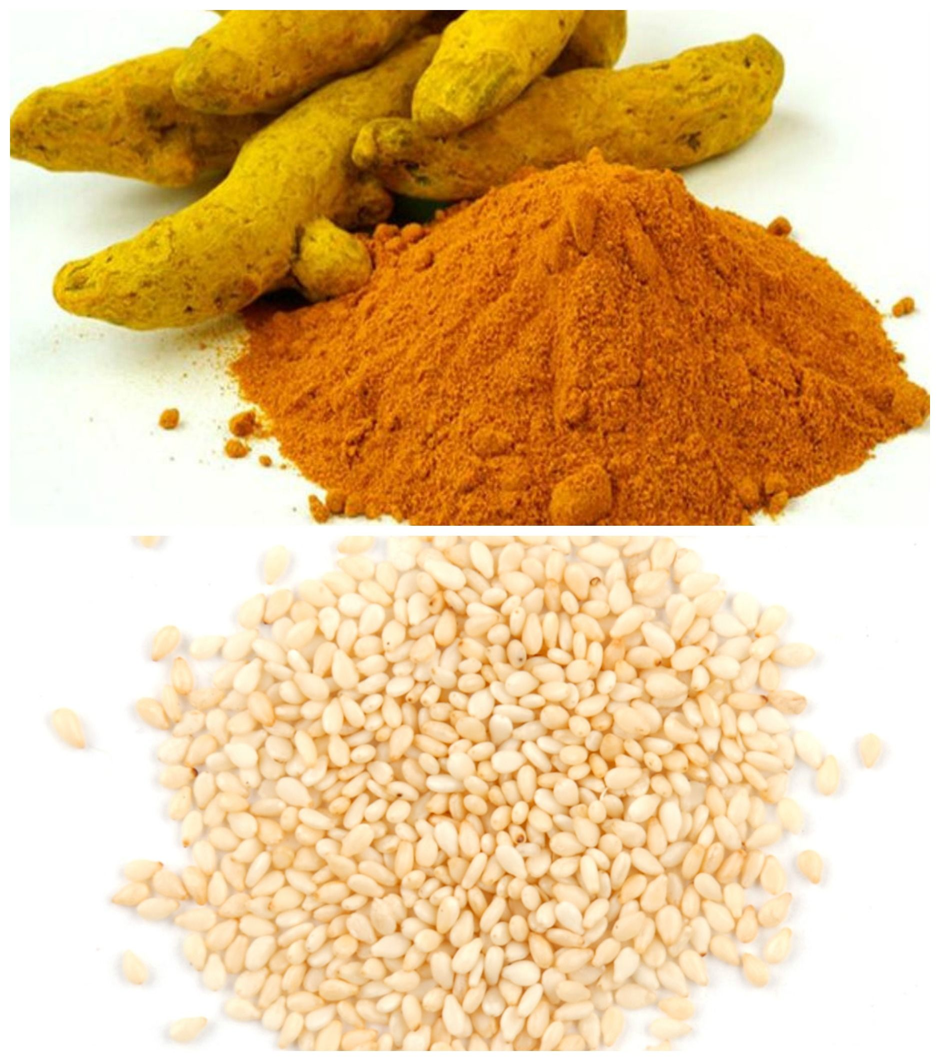 Grind some Sesame seeds & an equal amount of Turmeric