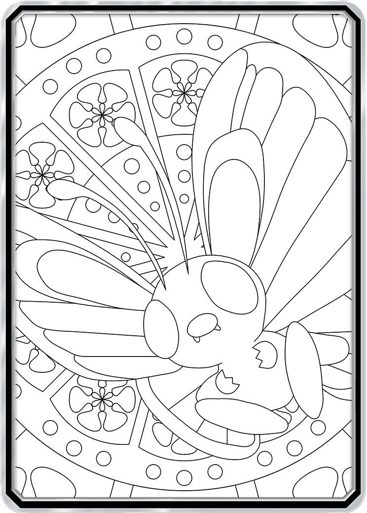 Color Me Butterfree Custom Pokemon Coloring Card Pokemon Coloring Pages Pokemon Coloring Cute Coloring Pages