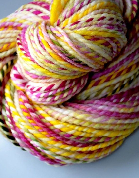 Home bulky handspun yarn