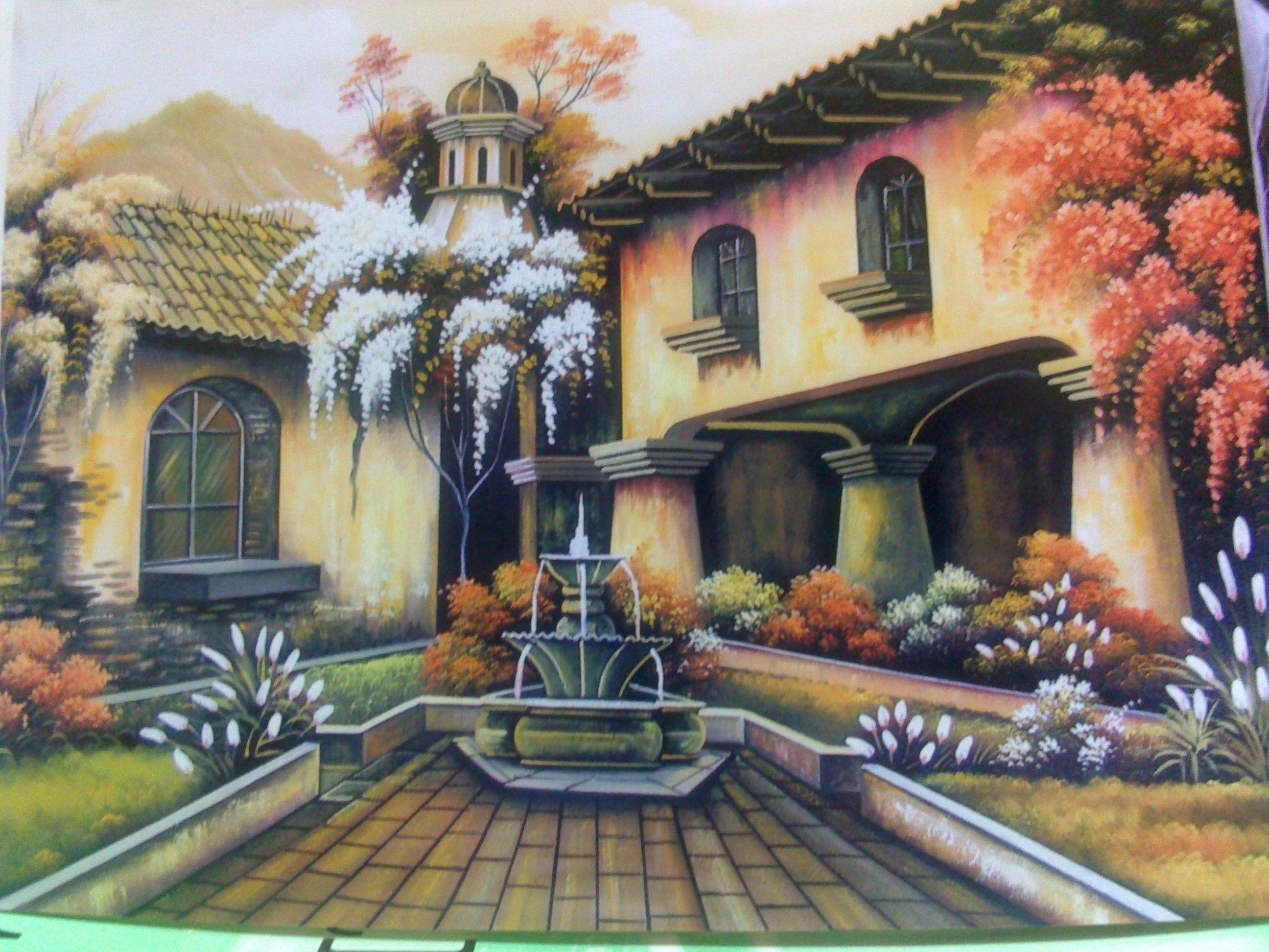 Fuente. Guatemala. pintor Guatemalteco Pinturas, Cuadros