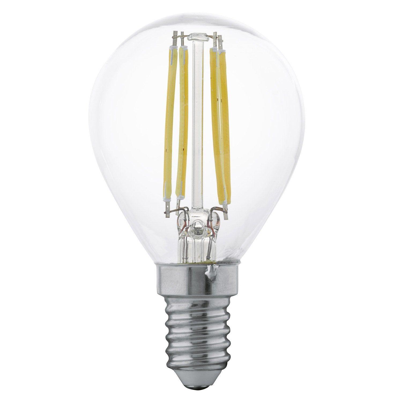 Lot De 2 Ampoules Sphériques Led 4w 350lm équiv 30w E14