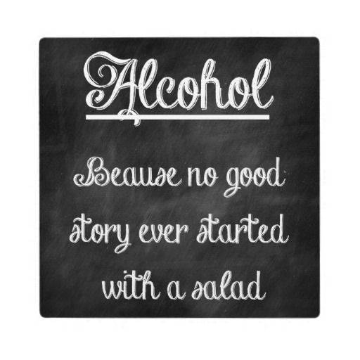Chalkboard Bar Sign With Funny Quote Plaque   Zazzle.com