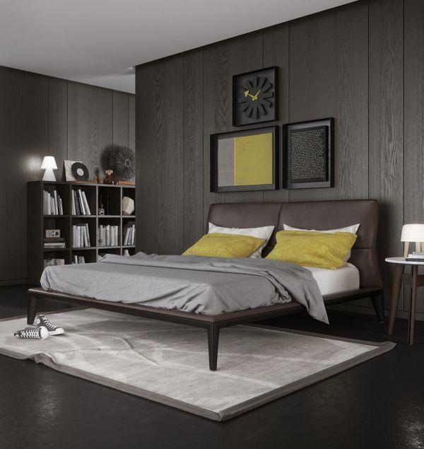 Bedroom by Thomas Peltzer, via Behance