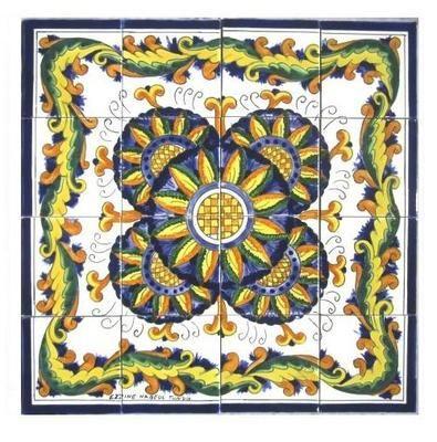 decorative ceramic tiles mosaic panel hand painted bath