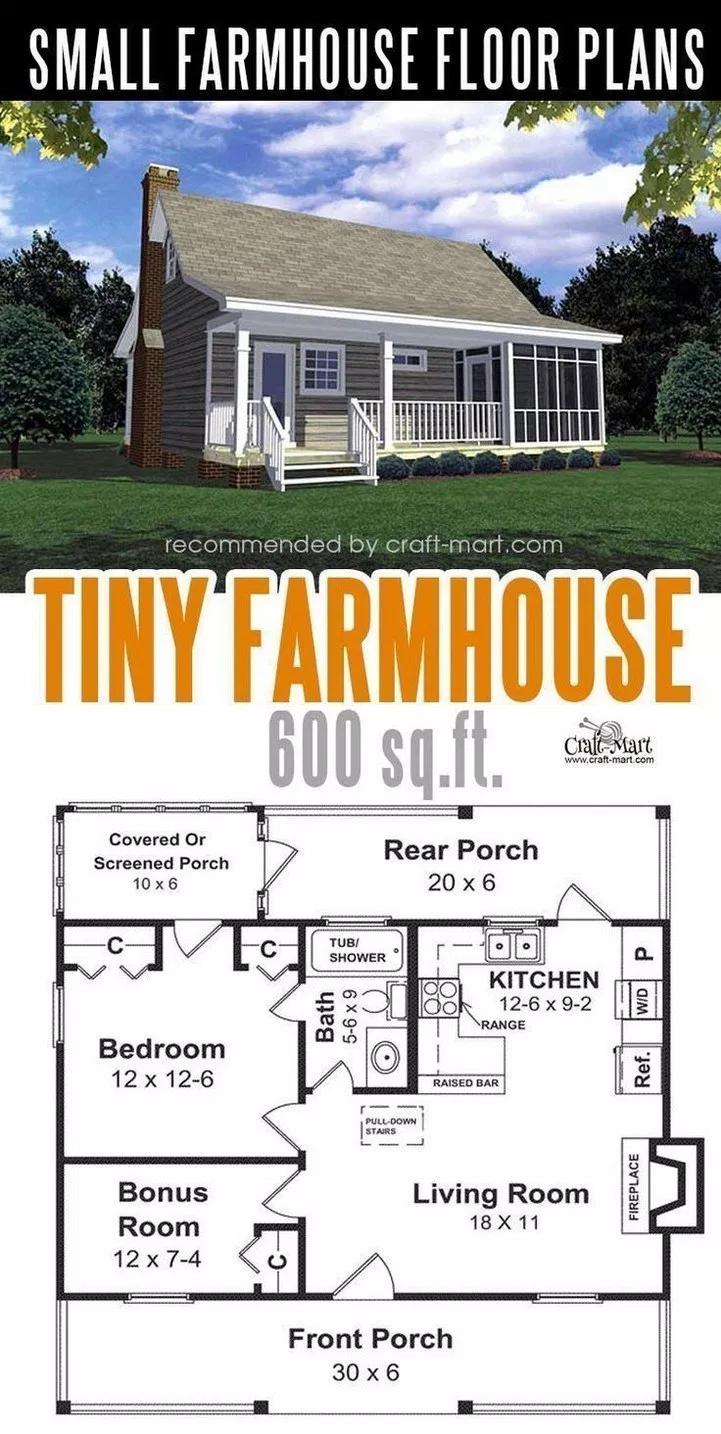 47 Adorable Free Tiny House Floor Plans 42 Design And Decoration Tiny House Floor Plans Small Farmhouse Plans Tiny Farmhouse