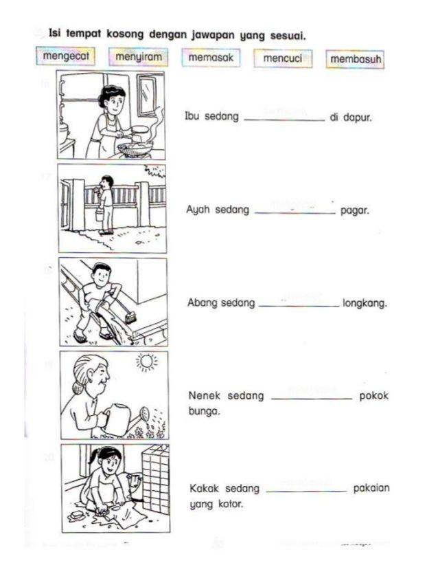 Lembaran Kerja Kata Arah   Pengertian jenis jenis ciri ciri kata kerja berdasarkan subjek kata ...