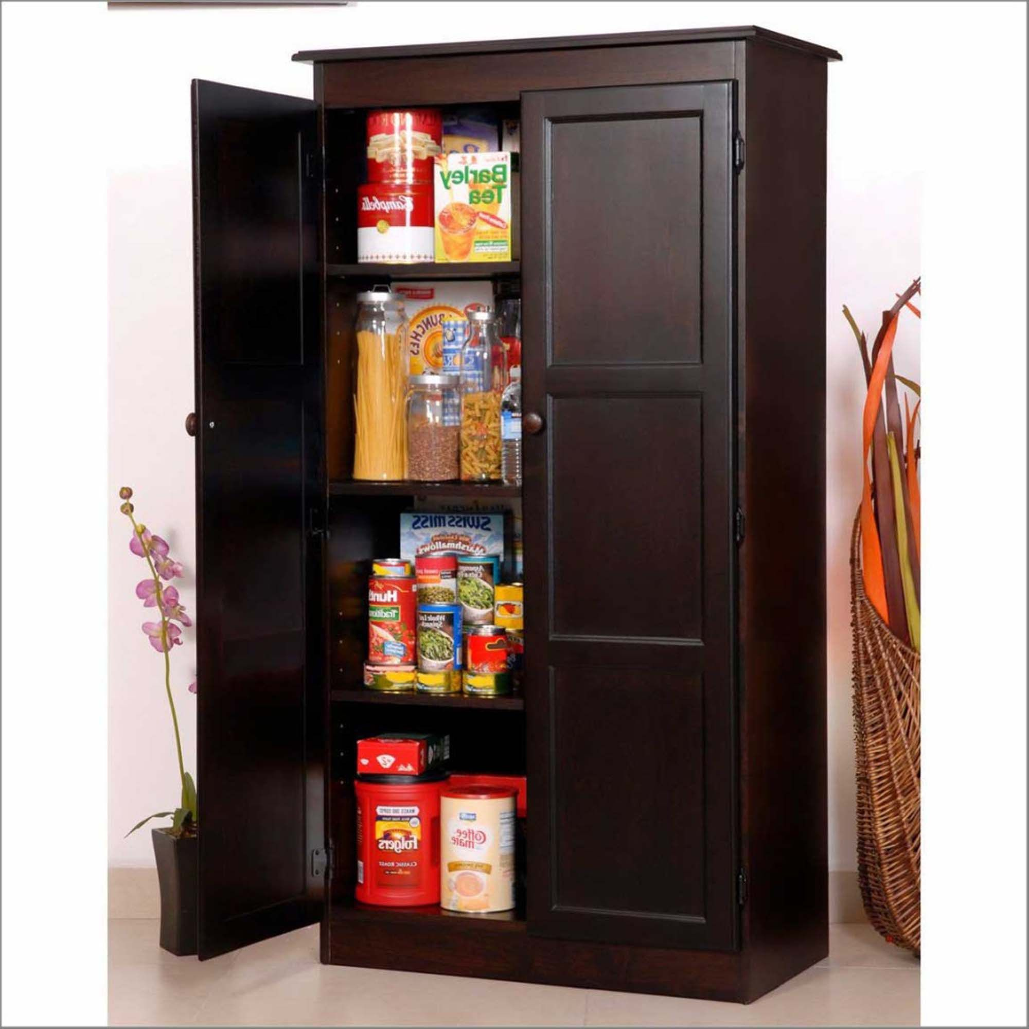 Kitchen Diy Freestanding Pantry With Freestanding Pantry Target Within Free Standing Kitche Pantry Cabinet Free Standing Pantry Storage Cabinet Standing Pantry